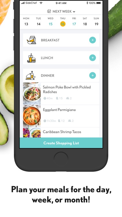 SideChef: Recipes + Meal Plans