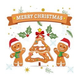 Gingerbread Christmas Stickers