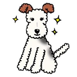 The Wire Fox Terrier Dog Emoji - App - iosfans com App Store