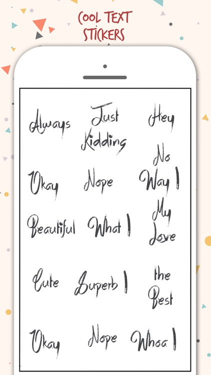 Typography Stickers screenshot-0