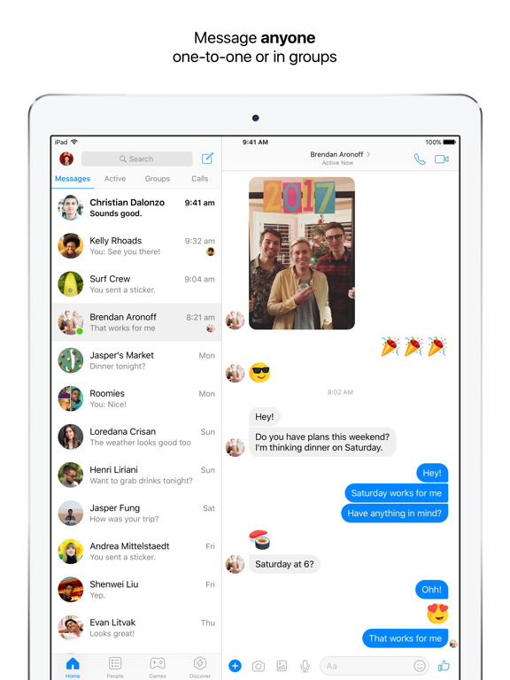 Image of Messenger for iPad