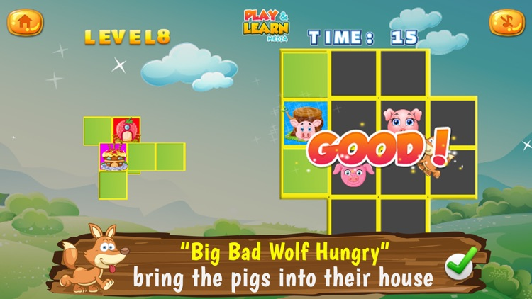 Three Little Pigs Puzzles screenshot-3