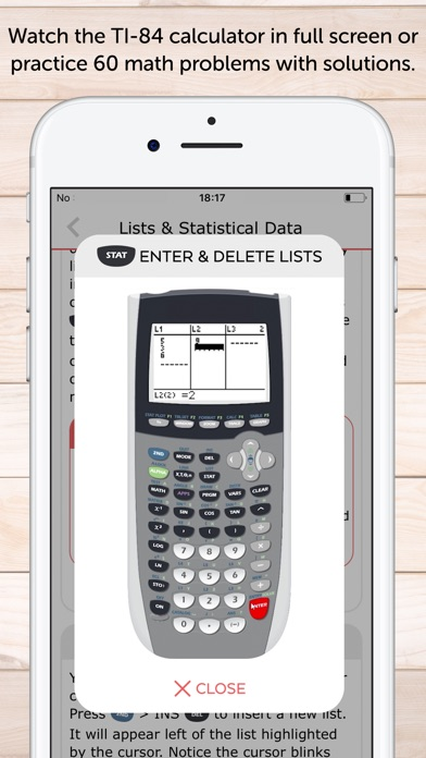 TI 84 Graphing Calculator Man. app image