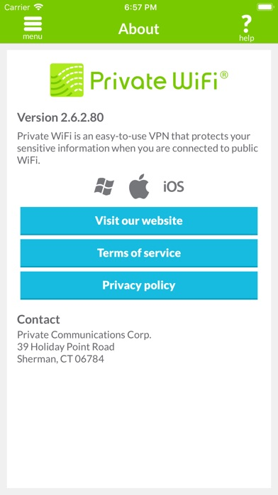 Private Wifi review screenshots