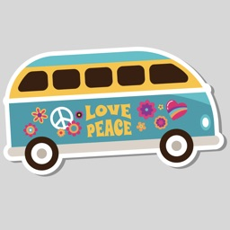 Hippie Bohemian Love Stickers