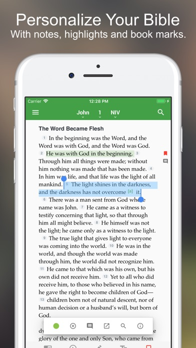 Screenshot for NIV Bible* in United States App Store