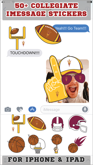 Arizona State Sun Devils Stickers PLUS screenshot one