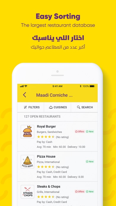 Screenshot for Otlob - Online food delivery in Belgium App Store