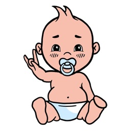 Animated cool baby stickers