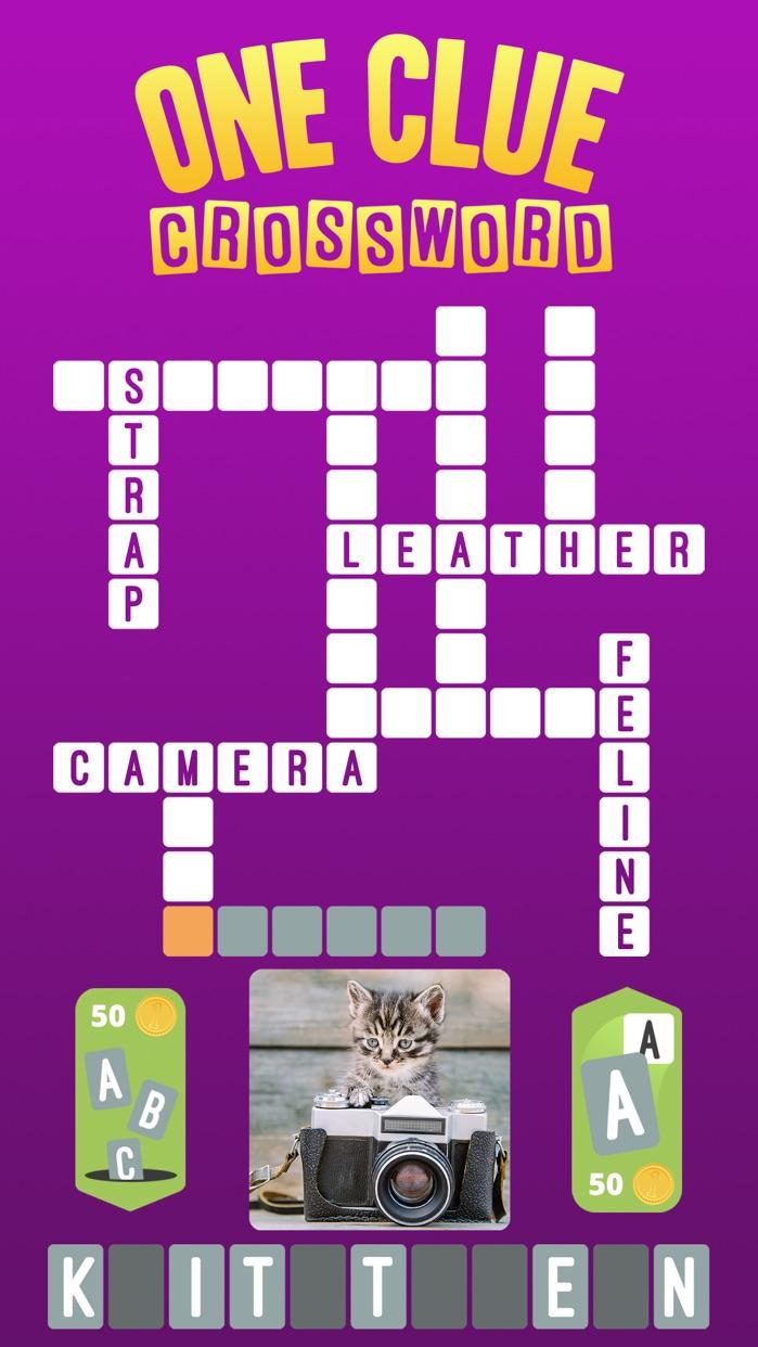 One Clue Crossword Screenshot