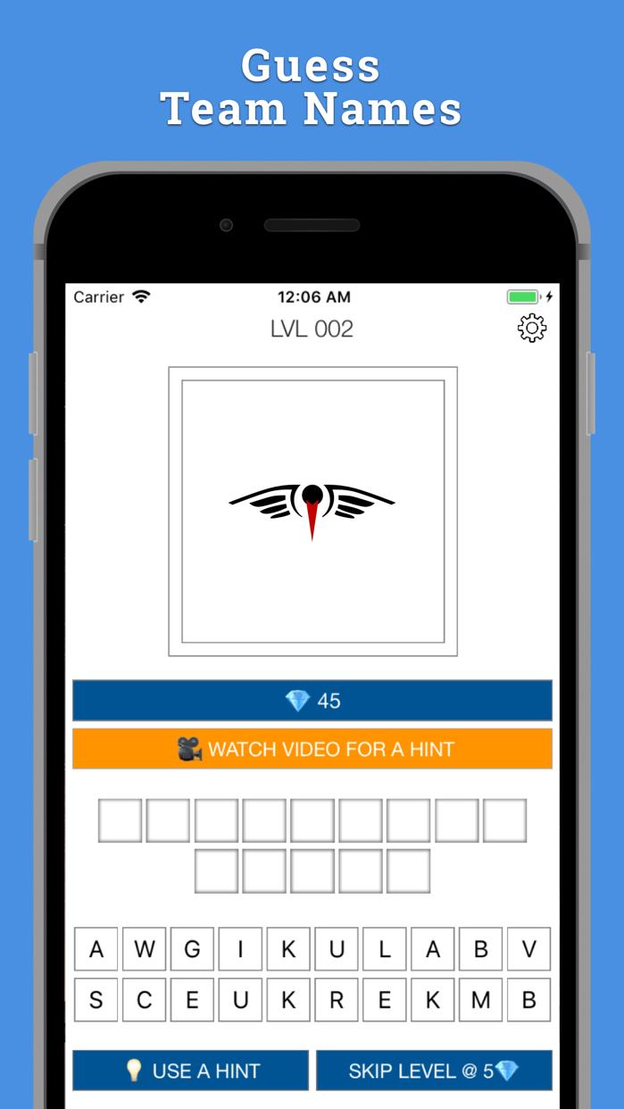 Sports Logo Quiz - 2k18 USA Screenshot
