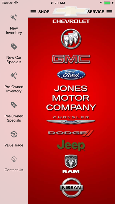 Jones Motor Company Dealer App screenshot one