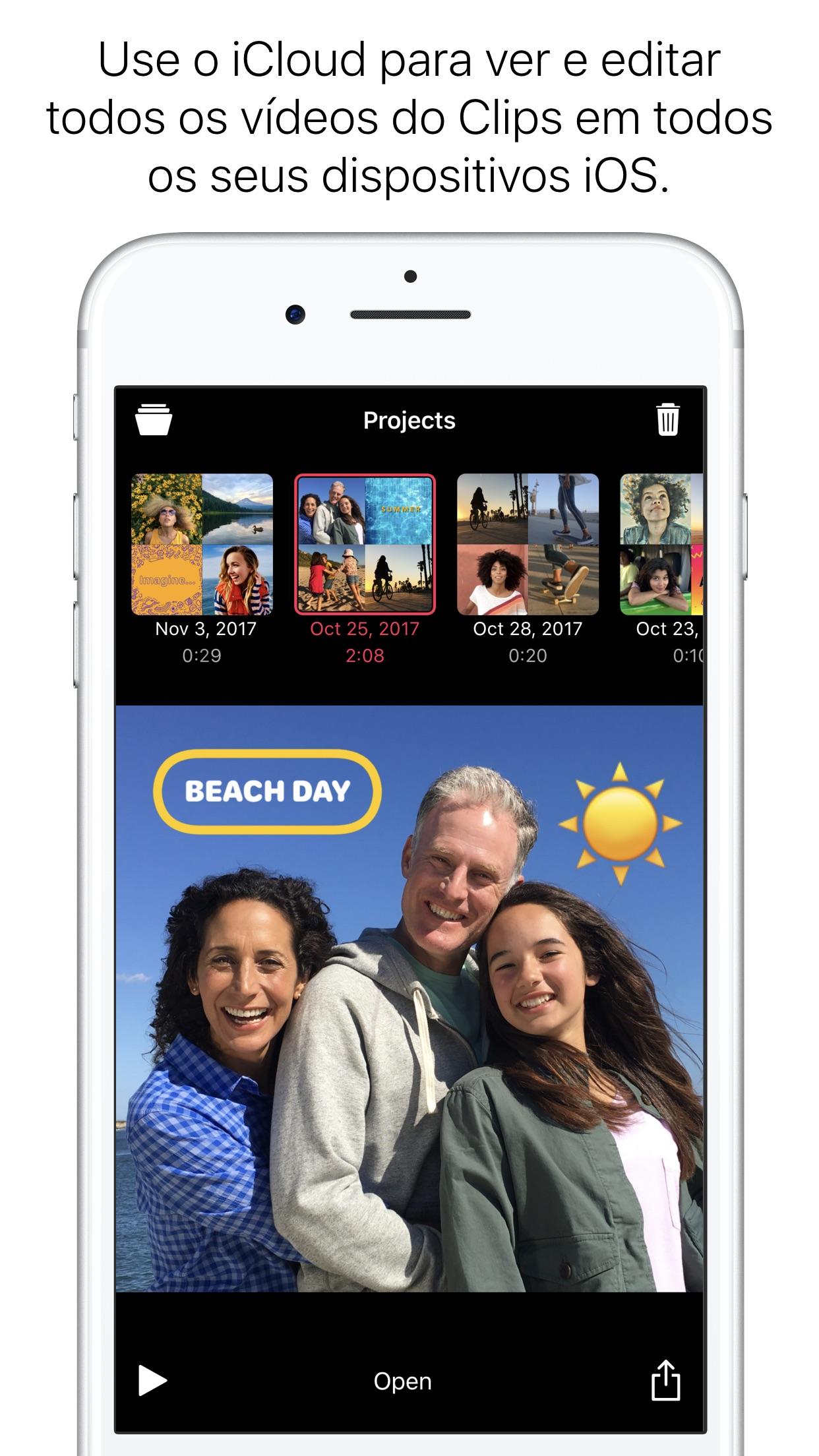 Screenshot do app Clips