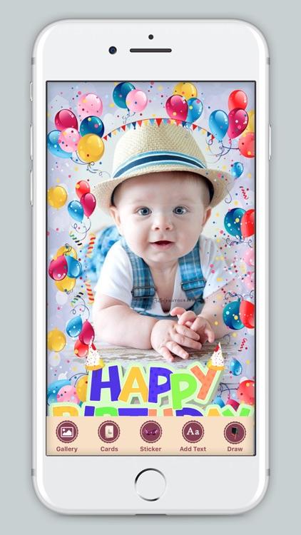 B'day Celebration Card Photo Frame screenshot-3