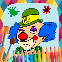 Clowns paint coloring book