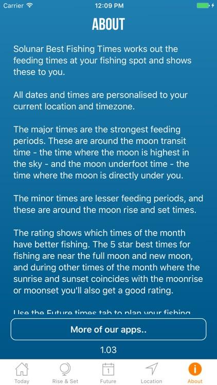 Solunar Best Fishing Times screenshot-4