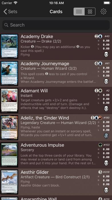 Screenshots for Magic card database (MTG)