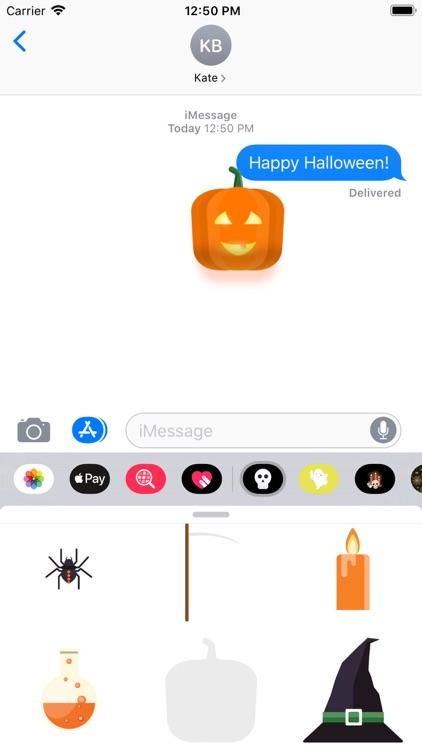 Minimal Halloween Stickers screenshot-4