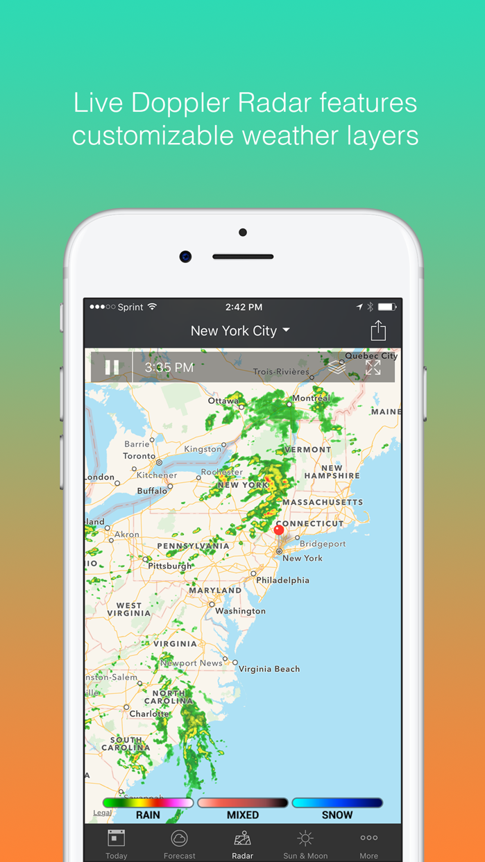 1Weather: Forecast and Radar Screenshot