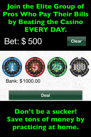 Blackjack Card Counting Pro screenshot 3