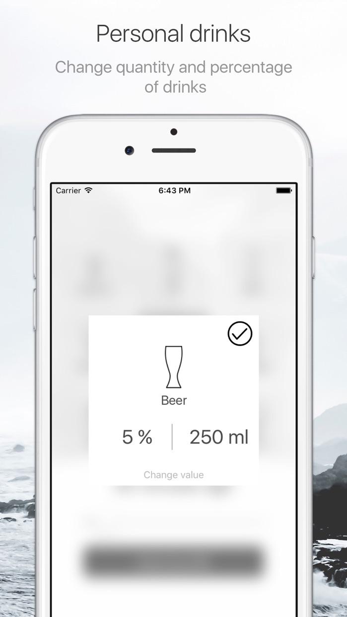 Алкотестер - калькулятор алкоголя SmartDrink Screenshot