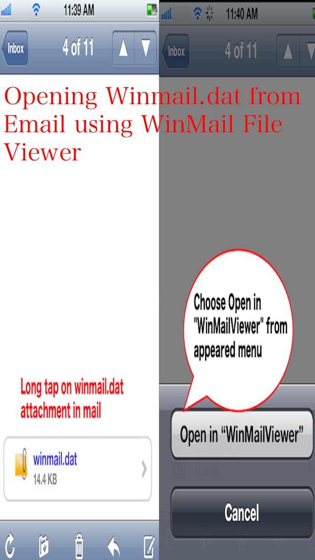 Winmail Viewer for iP... screenshot1