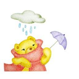 Watercolor Warm Bear Sticker