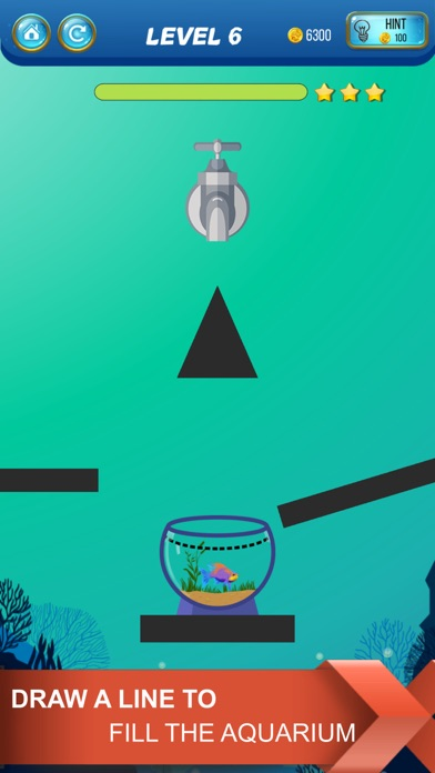 Screenshot for Save The Fish - Physics Puzzle in Portugal App Store