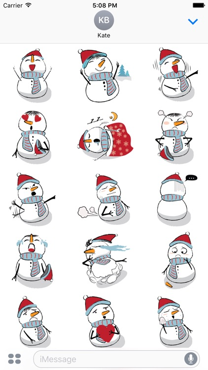Cute & Lovely Snowman Stickers