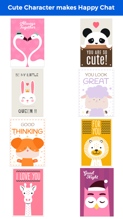 Happy Talk by Cute & Lovely Animal Characters screenshot 2