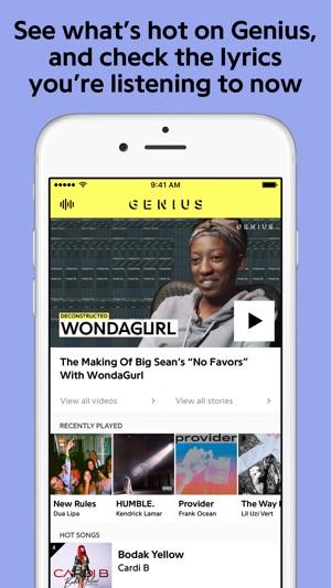 Genius Song Lyrics More On The App Store