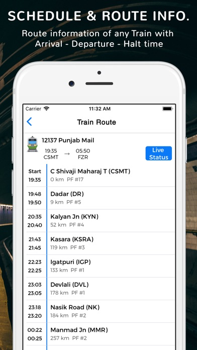 Screenshot for Where is my Train : IRCTC in India App Store