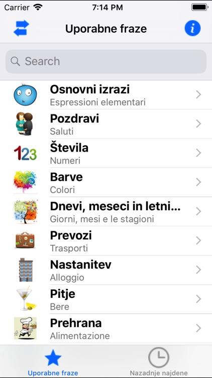 Frasi utili italiano-sloveno
