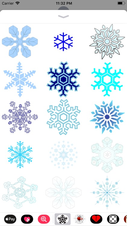 Snowflake Sticker Pack screenshot-5