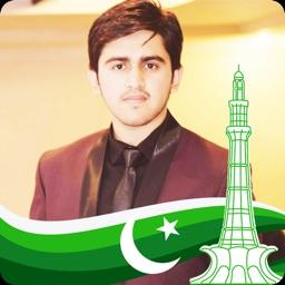 Pakistan 14 August Flag Face Photo Frame Maker