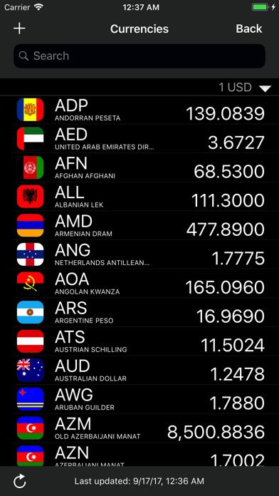 eCurrency -  通貨のコンバーター ScreenShot2