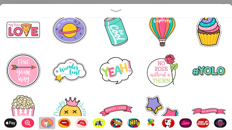 Cute Girly Stickers Style App screenshot-4