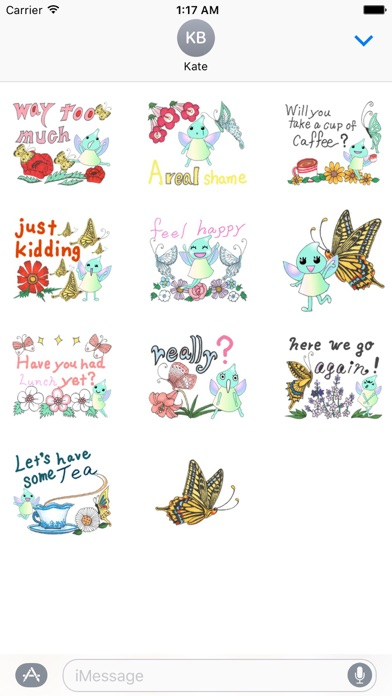 Lovely Butterfly Fairy Sticker screenshot 3