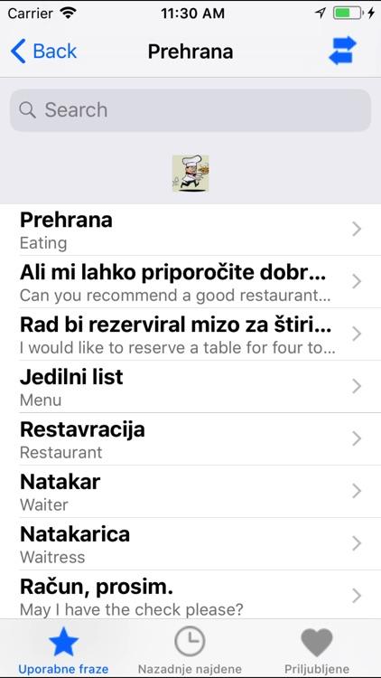Useful Eng Slo phrases screenshot-3