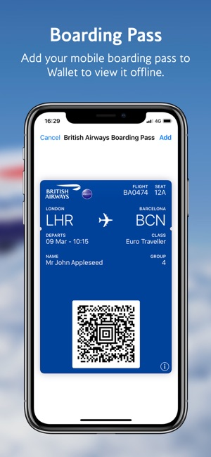 British Airways Screenshot