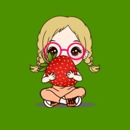 Glassy girl sticker