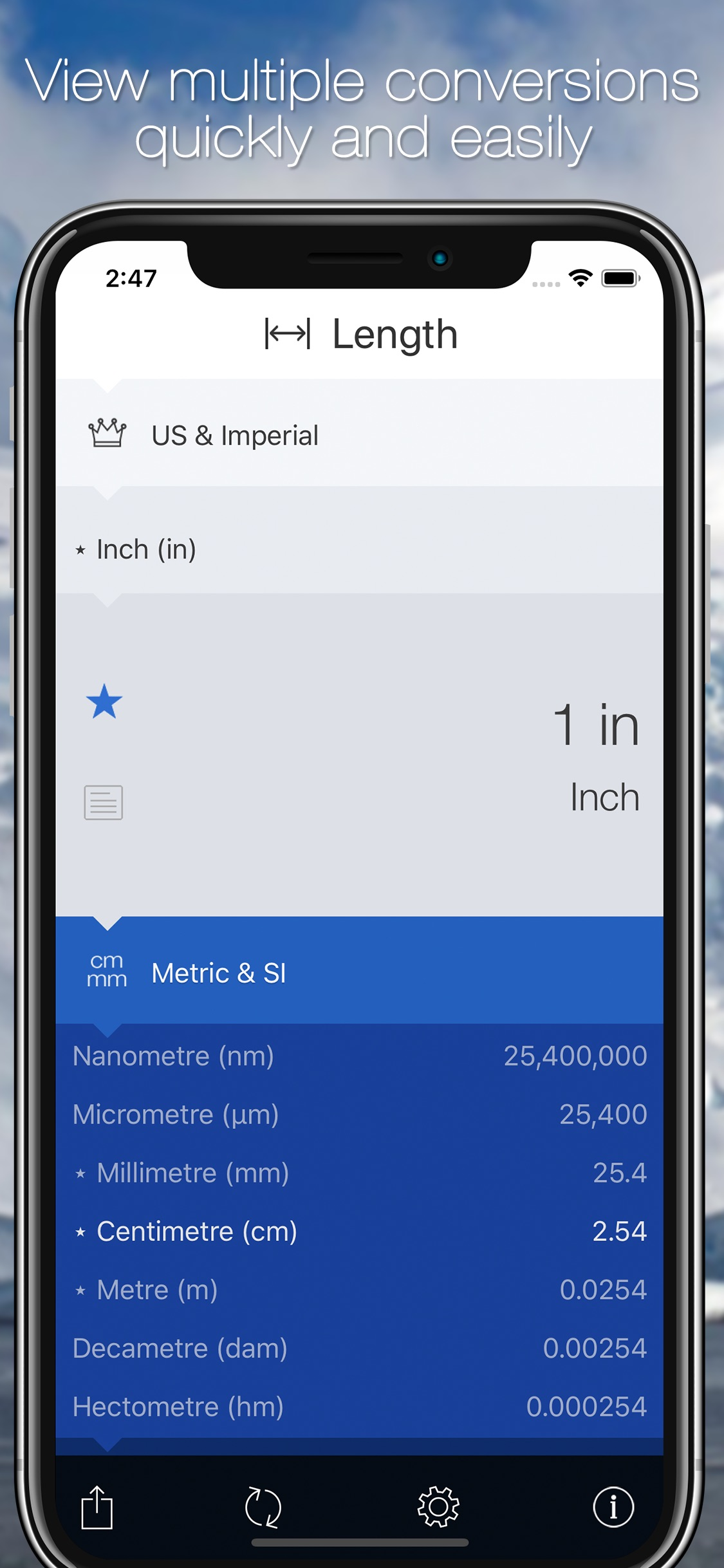 Screenshot do app Convertible: Unit Converter