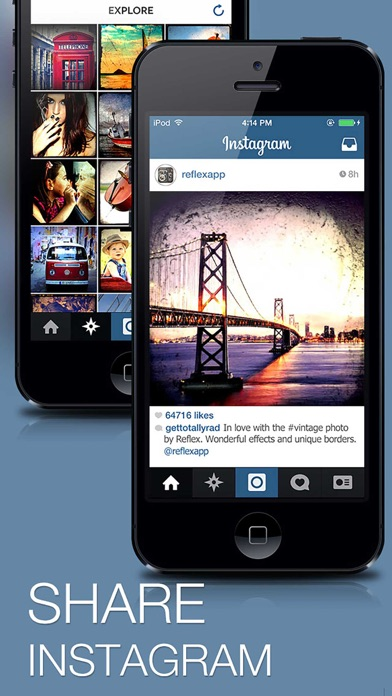 Reflex Free - Vintage Camera and Photo Editor for Instagram App