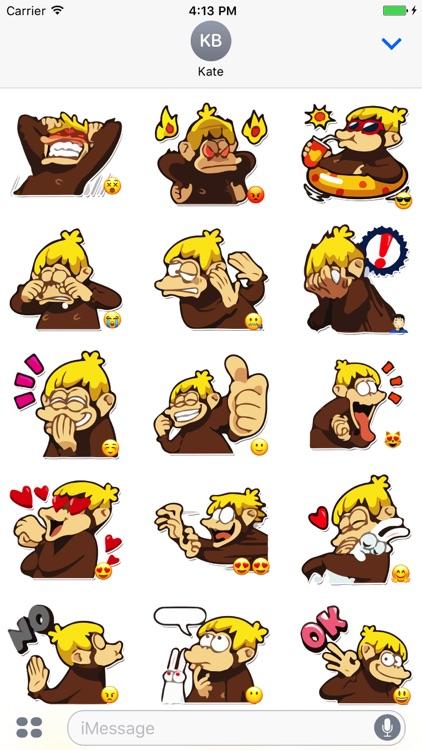 Amusing Monkey Stickers