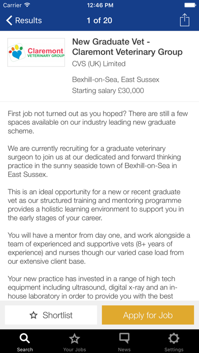 Vet Record Careers screenshot three