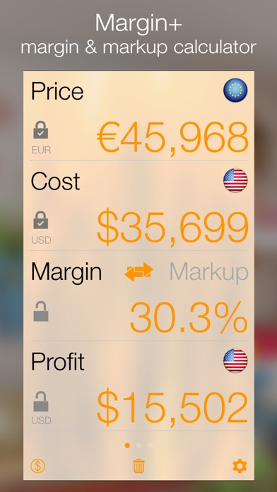 margin margin calculator iphoneアプリ applion