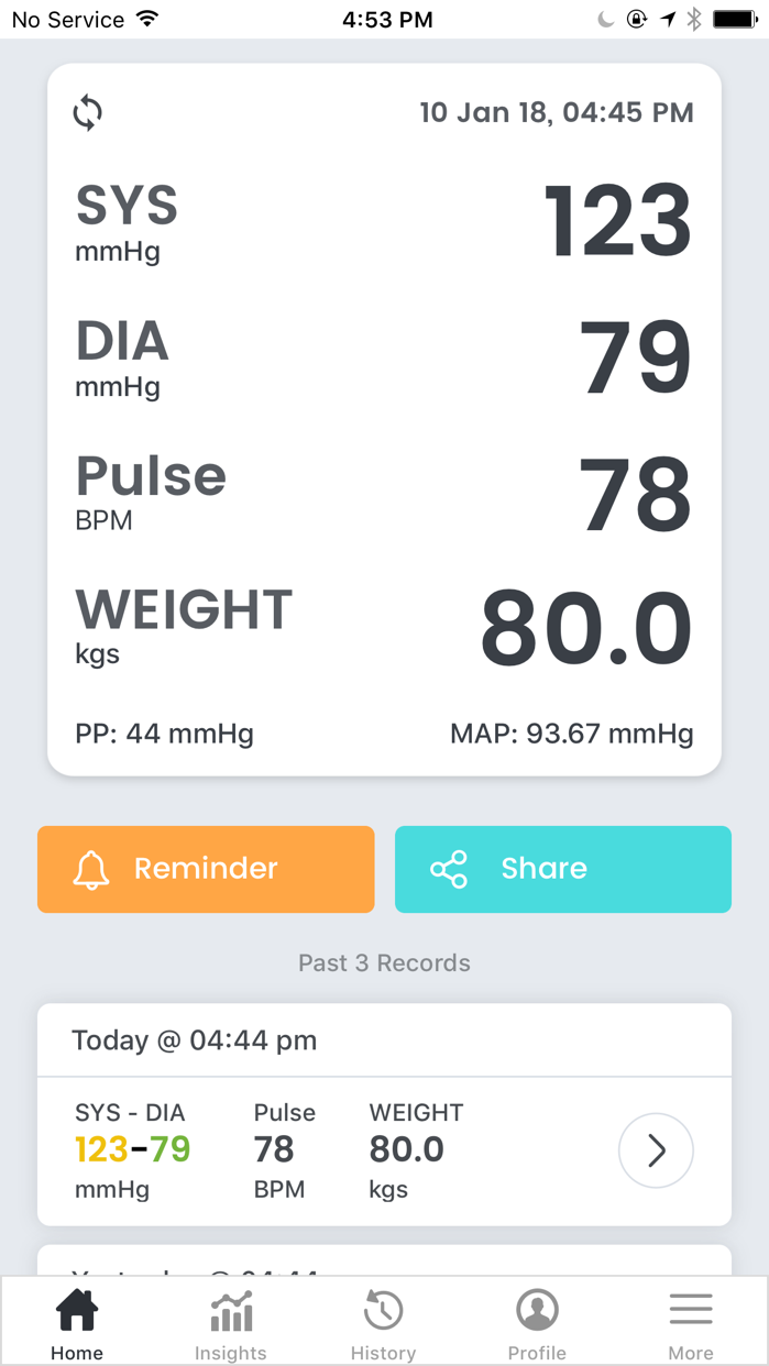 Smart Blood Pressure- SmartBP Screenshot