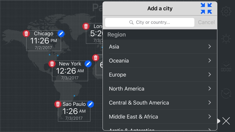 map:clock - World Map & Clock screenshot-5