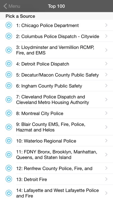 5-0 Radio Pro Police Scanner (Extra Feeds) Screenshot 5