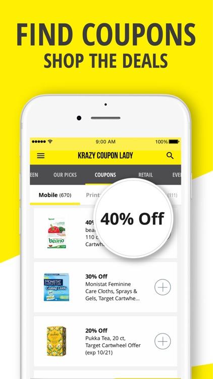 Krazy Coupon Lady: Shop & Save screenshot-7